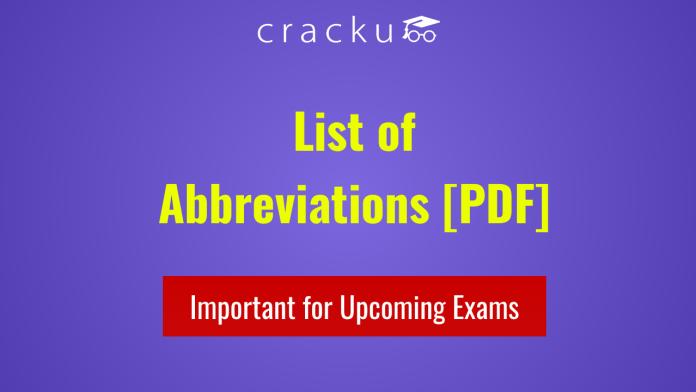 List of Abbreviations PDF