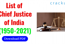 List of Chief Justice of India (1950-2021)