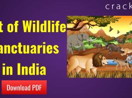 List of Wildlife Sanctuaries in India PDF
