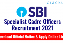 SBI Specialist Cadre Officers Recruitment 2021 for Fire Engineer Posts