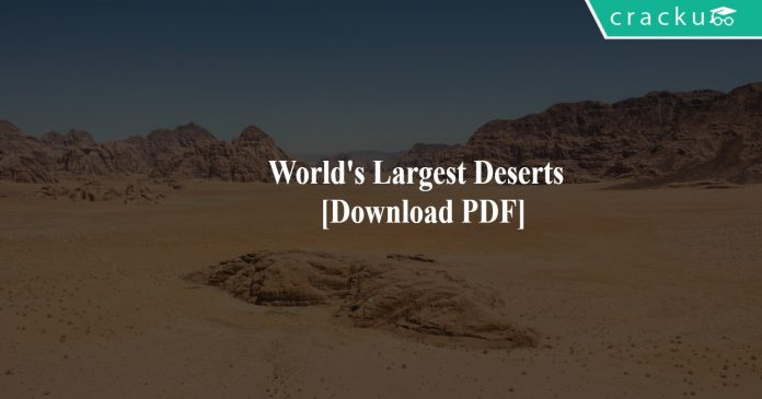 World's Largest Deserts PDF