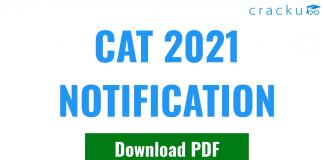 CAT Notification PDF Download