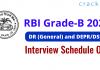 RBI Grade-B 2021 Interview