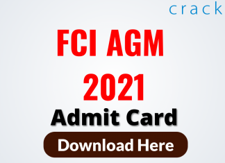 FCI AGM 2021 Admit Card Out