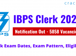 IBPS Clerk 2021 Notification Out