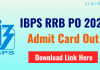 IBPS RRB PO 2021 Admit Card