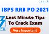 IBPS RRB PO Last Minute Tips