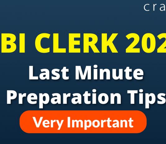 SBI Clerk 2021 Last Minute Tips