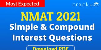 NMAT Simple & Compund Interest Questions PDF
