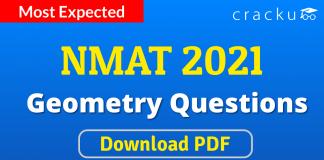 NMAT Geometry Questions PDF