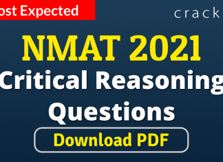 NMAT Critical Reasoning Questions PDF