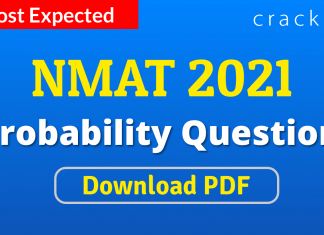 NMAT Proability Questions