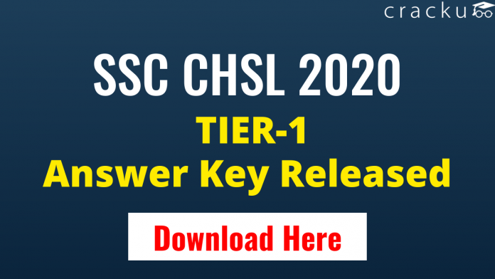 SSC CHSL 2020 Paper-1 ANSWER KEY