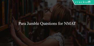 Para Jumble Questions for NMAT