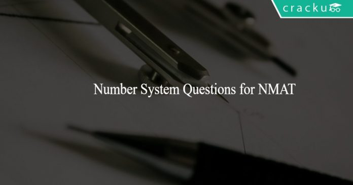 Number System Questions for NMAT