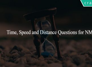 Time, Speed and Distance Questions for NMAT