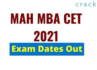 MAHCET 2021 Exam date