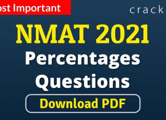 NMAT Percentages Questions