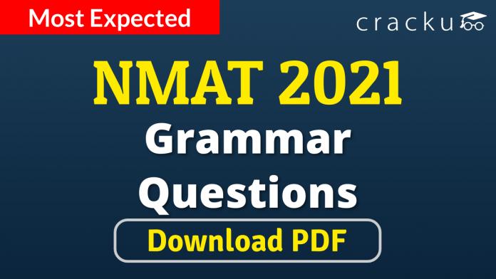 NMAT Grammar Questions PDF