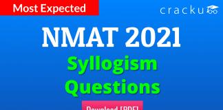 NMAT Syllogism Questions PDF