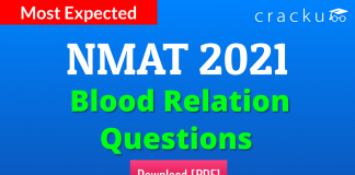 NMAT Blood Relations Questions PDF