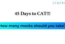 How many mocks before CAT