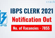 IBPS Clerk 2021 Recruitment Notification Out