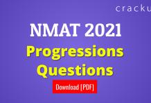 NMAT Progressions Questions [PDF]