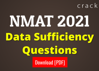 NMAT Data Sufficiency Questions PDF
