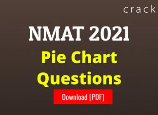NMAT Pie Chart Questions PDF
