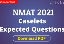 NMAT Caselets Questions