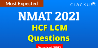 NMAT HCF LCM Questions PDF
