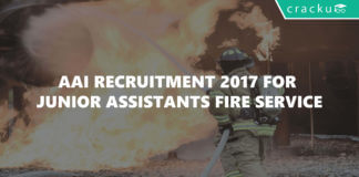 AAI recruitment 2017 for Junior Assistants fire service