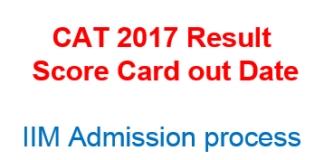 CAT 2017 Result score card out date