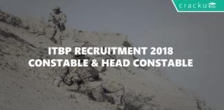 ITBP recruitment 2018 - Constable & Head Constable