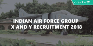 Indian Air force group x and y recruitment 2018