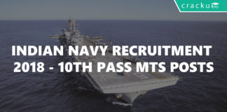 Indian Navy recruitment 2018-10th Pass MTS posts