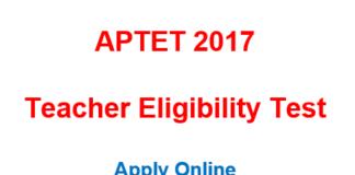 APTET application form 2017 - apply online
