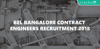 bel bangalore contract engineers recruitment 2018