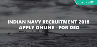 Indian Navy Recruitment 2018 - Apply online - Data Entry Operator DEO-01