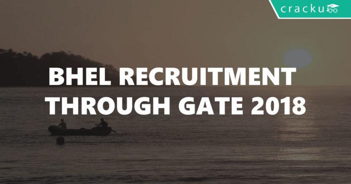 BHEL Recruitment through GATE 2018-01