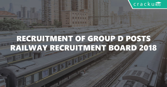 Recruitment of Group D Posts-Railway Recruitment Board 2018