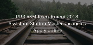 RRB ASM Recruitment 2018 - Assistant Station Master vacancies - Apply online