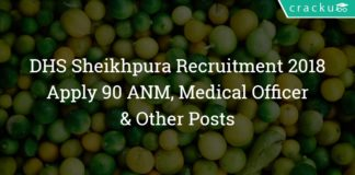 District Health Society Sheikhpura Recruitment 2018 – Apply 90 ANM, Medical Officer & Other Posts