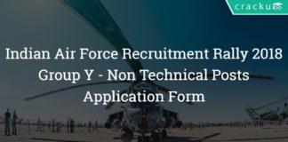Indian Air Force Group Y Recruitment Rally 2018 - Non Technical Application Form