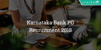 Karnataka Bank Po recruitment 2018