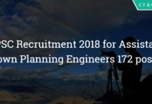 mpsc recruitment 2018 for assistant town planning engineers 172 posts - Apply onine