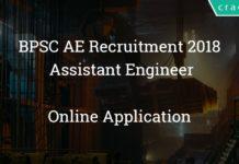 BPSC AE Recruitment 2018 Online application