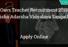 oavs teacher recruitment 2018 - Apply online - odisha adarsha vidyalaya sangathan - 1544 Posts