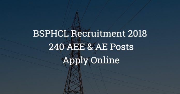 BSPHCL AEE & AE Recruitment 2018